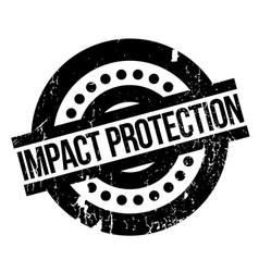 Impact protection rubber stamp vector