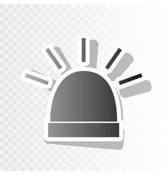 police single sign  new year blackish icon vector image