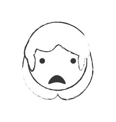 Sketch female mom sad vector