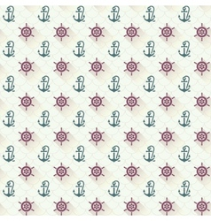 Seamless patterns anchors with shadow vector