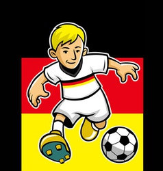 Germany soccer player with flag background vector