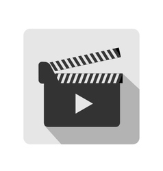 Clapboard flat icon vector