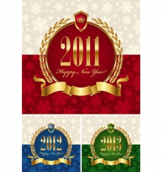 Happy new year frame vector