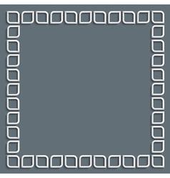 3d white frame in arabic style vector