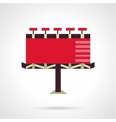 Red billboard flat icon vector
