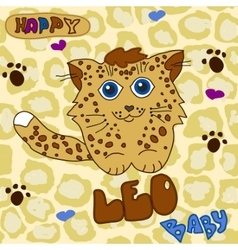 Little baby leopard vector