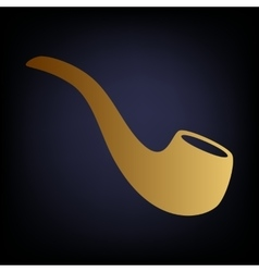 Smoke pipe icon vector
