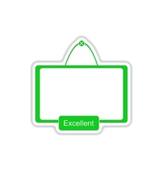 Paper sticker on white background interactive vector