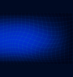 abstract dark blue background with a curved lines vector image vector image
