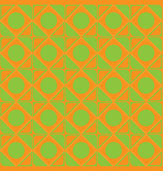 abstract ornament of orange green shades seamless vector image vector image