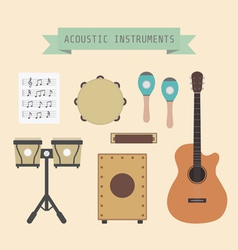 acousticmusic vector image vector image