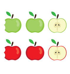 apples bitten vector image