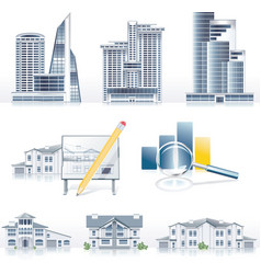 architecture icons vector image