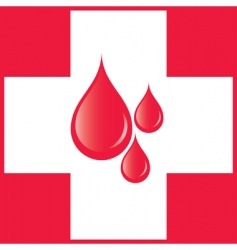 blood drops on the cross vector image vector image