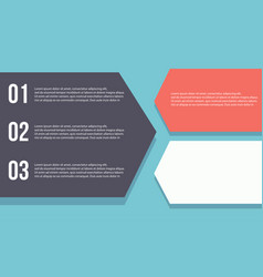 Business infographic with step design vector