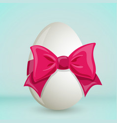Colorful easter egg with bow vector