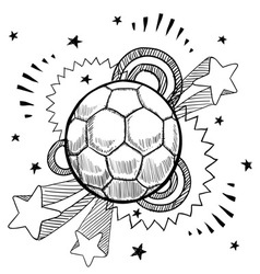 doodle pop soccer football vector image