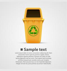 Ecological trash vector