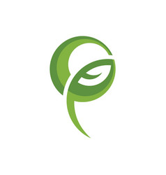 ecology bio leaf abstract logo image vector image