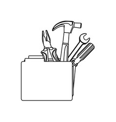 figure file with tools icon vector image vector image