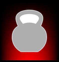 fitness dumbbell vector image