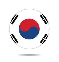 Flag icon button vector image vector image
