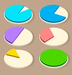 Flat business pie charts for your designs vector