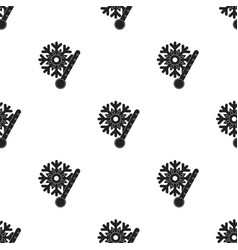 Frost icon in black style isolated on white vector
