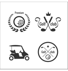 Golf icons and labels vector