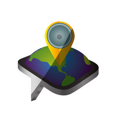 gps map pointer vector image