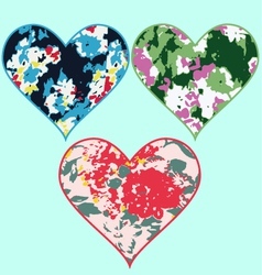heart floral texture vector image vector image