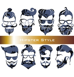 Hipster hair and beards fashion vector