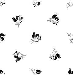 love cupid pattern seamless black vector image vector image
