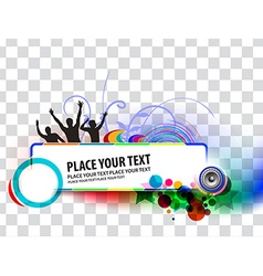 Party banner background vector