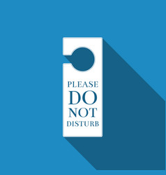 Please do not disturb icon hotel door hanger tags vector