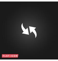 Recycling arrows simple pictogram vector