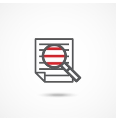 Research icon vector image vector image