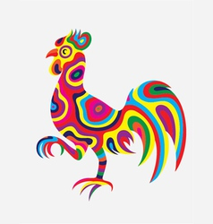 Rooster colorfully vector