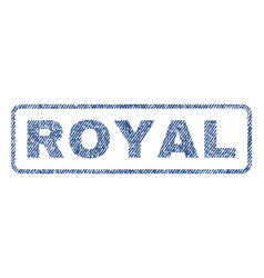 Royal textile stamp vector