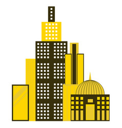 Skyscrapers buildings isolated tower office city vector