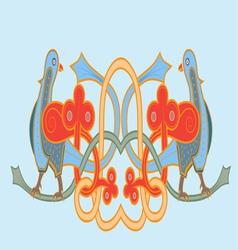 Slavic bird vector