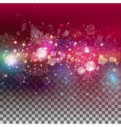 Star field transparent background vector