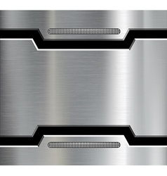 Texture of the metal plate vector image vector image