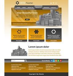 Website template layout vector