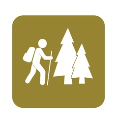 Forest tourism icon vector