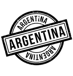 Argentina rubber stamp vector