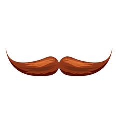 moustache icon cartoon style vector image