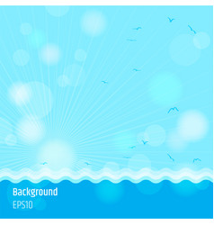 Modern abstract background in summer sea time vector