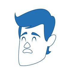 Man cartoon face adult caricature character vector