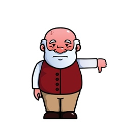 Old man giving a thumbs down vector image